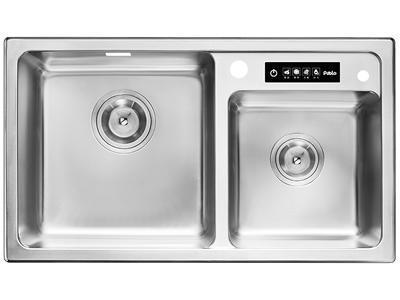 SER920EE-U Ultrasonic Cleaning Square Double Bowl Stainless Steel Sink