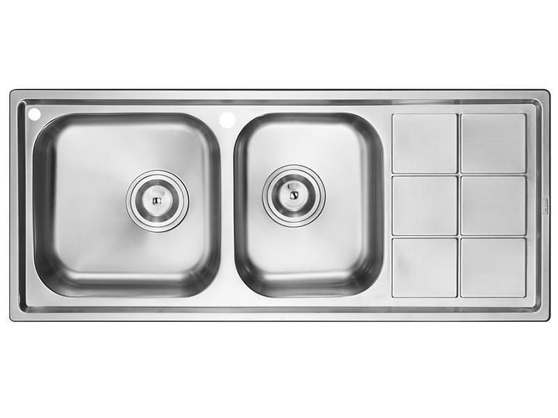 LGP921AA Double Bowl Kitchen Sink with Dish Drying Rack