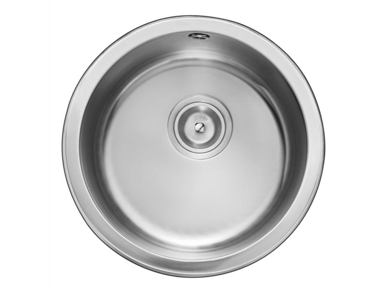 DNP910AA Round Single Bowl Stainless Steel Sink